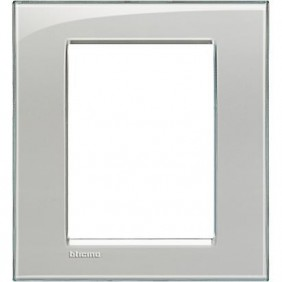 Placca Bticino LivingLight Quadra 3+3 Moduli grigio ghiaccio LNA4826KG