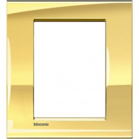 Placca Bticino LivingLight Quadra 3+3 Moduli oro freddo LNA4826OA