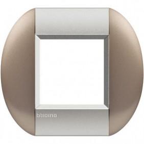 BTICINO LIVINGLIGHT PLACCA TONDA 2 MODULI LNB4802TB