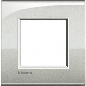 BTICINO LIVINGLIGHT PLACCA AIR 2 MODULI LNC4802GL