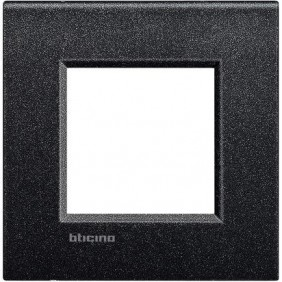 BTICINO LIVINGLIGHT PLACCA AIR 2 MODULI LNC4802NL