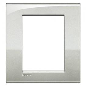 Placca Bticino LivingLight AIR 3+3 posti argento lunare LNC4826GL