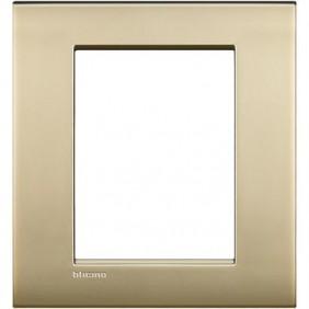 Placca Bticino LivingLight AIR 3+3 posti oro satinato LNC4826OF