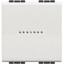 Interruttore Bticino LivingLight assiale 1P 16A 2 Moduli bianco N4051M2N