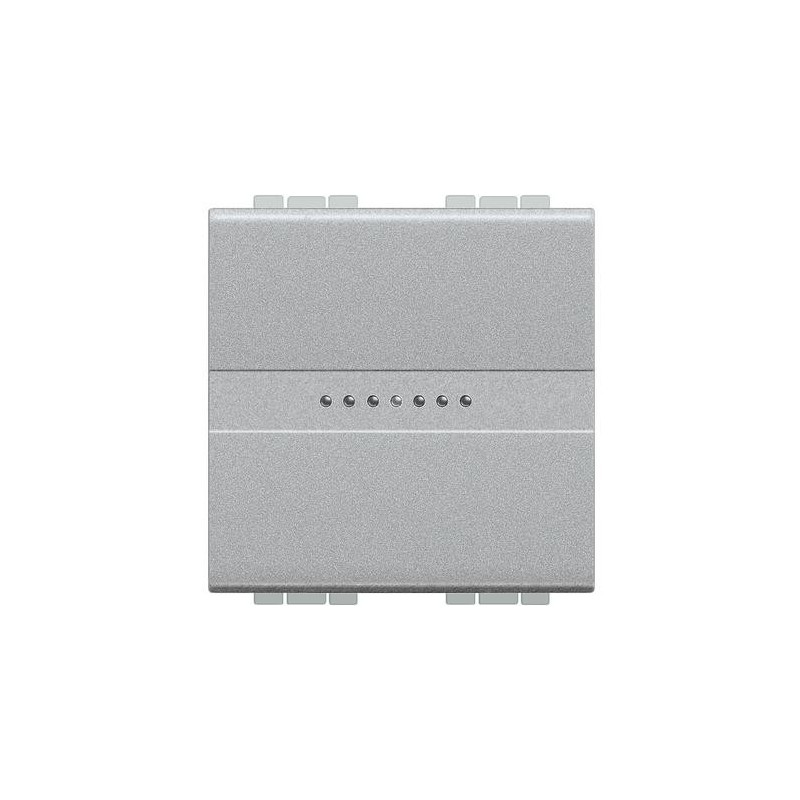 Deviatore Bticino LivingLight assiale 1P 16A 2 Moduli tech NT4053M2N