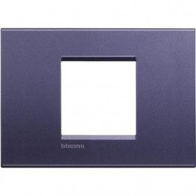 Placca 2 posti centrali quadra Bticino Living Light club LNA4819CB