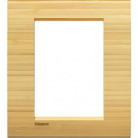Placca Bticino LivingLight Quadra 3+3 Moduli bamboo LNA4826LBA