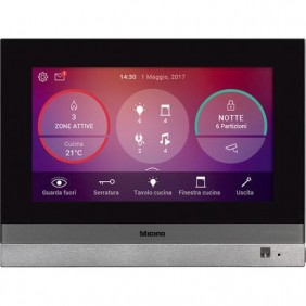 Home Touch 7 Bticino for the management of all the functions MyHOME_Up 3488