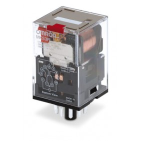 Contacts relay Omron 3 exchanges 230VAC LED...