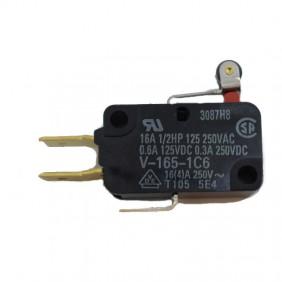 Interruttore finecorsa Omron Micro 16A con leva e rotella V1651C6R-1480430