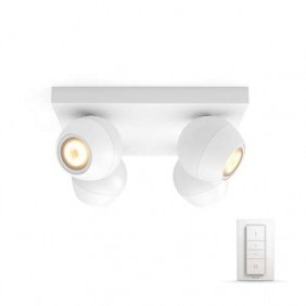 Applique 4 Lampade Philips BUCKRAM HUE Bianco dimmerabile 5047431P7
