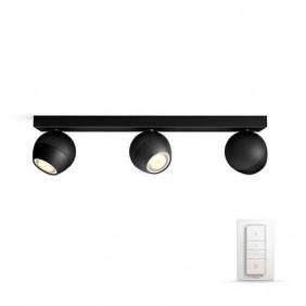 Applique 3 Lamps Philips BUCKRAM HUE Black dimmable 5047330P7