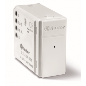Dimmer Incasso Finder YESLY 200W Bluetooth Bianco 15718230B200