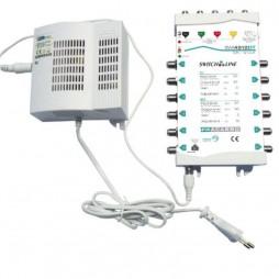 Multiswitch Fracarro 5x12 autoalimentato con TV e SAT attivi e regolabili