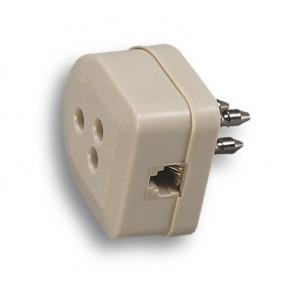 Spina tripolare telefonica Fanton plug 6/4 22170