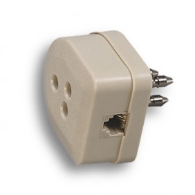 Three-conductor plug telephone Fanton plug 6/4...