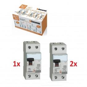 KIT base centralini Bticino magnetotermici differenziali CUB648L1N50