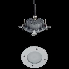 Corpo lampada con flangia Goccia LUX SHOWER Inside Ø 125 LED 8W 1479GM3K