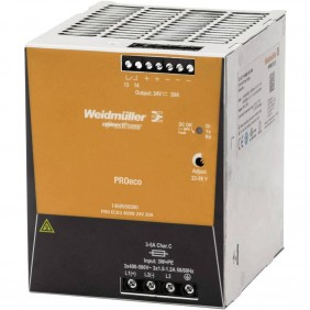 Alimentatore switching Weidmuller PRO ECO 480W 24VDC 20A 1469550000