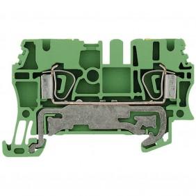Morsetto Weidmuller componibile per conduttore protezione 2,5MMQ 1608640000