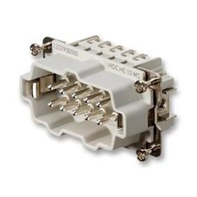 Inserción del conector Macho Weidmuller HDC 10P+T 16A 500V 1203900000