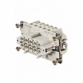 Conector Hembra insertar Weidmuller HDC 10P+T 16A 500V 1204100000