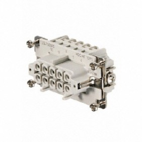 Connector Female insert Weidmuller HDC 10P+T 16A 500V 1204100000