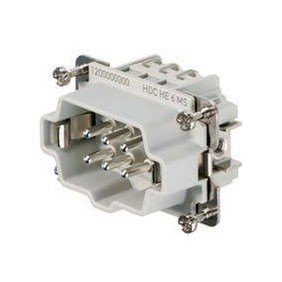 Connector insert Male Weidmuller HDC 6P+T-24A 500V 1200000000