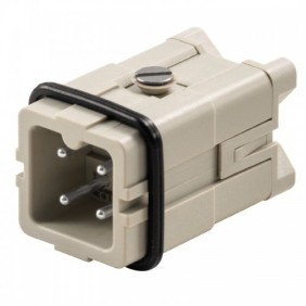 Connector insert Male Weidmuller HDC 3P+T 16A 400V 1498100000