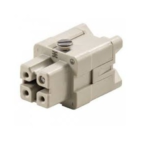 Connector Female insert Weidmuller HDC 3P+T 16A 400V 1498200000