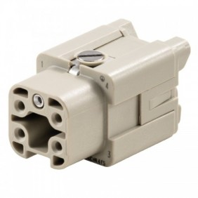 Connector Female insert Weidmuller HDC 4P+e 16A 400V 1498400000