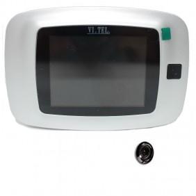 """Spioncino Digitale Vi.Tel. monitor 3.2"""" colore Cromo Satinato E399/12"""