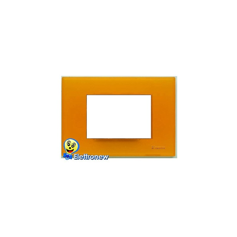 BTICINO LIGHT PLACCA 3 MODULI N4803AJ
