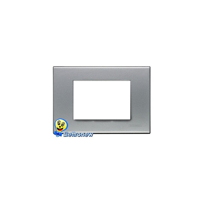 BTICINO LIGHT PLACCA 3 MODULI N4803AA