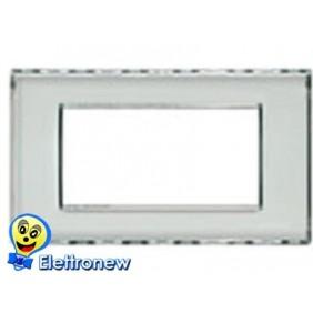 BTICINO LIGHT PLACCA 4 MODULI N4804KR