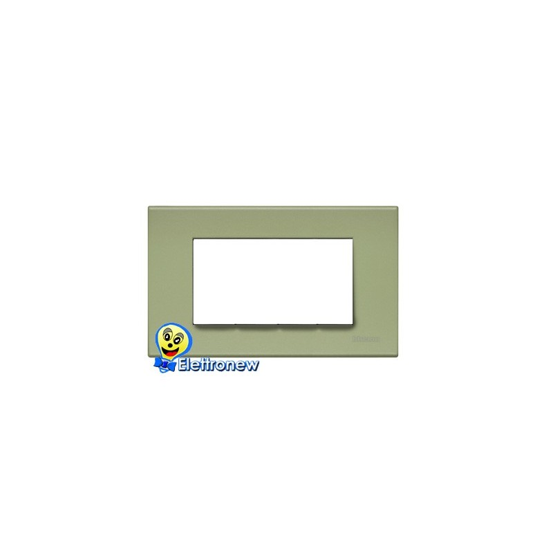 BTICINO LIGHT PLACCA 4 MODULI N4804VE