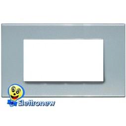 BTICINO LIGHT PLACCA 4 MODULI N4804AN