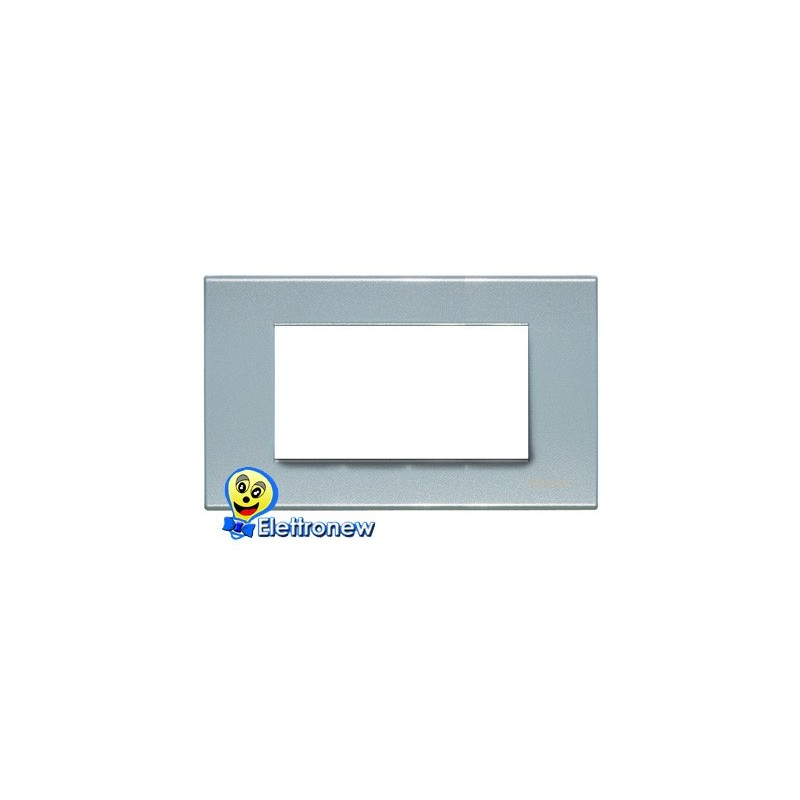 BTICINO LIGHT PLACCA 4 MODULI N4804AN