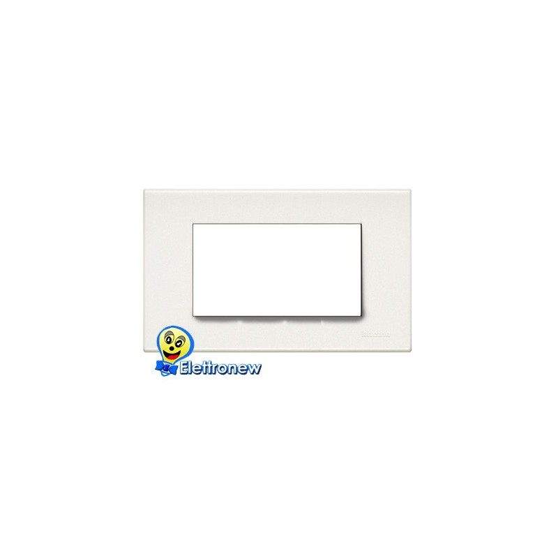 BTICINO LIGHT PLACCA 4 MODULI N4804LB