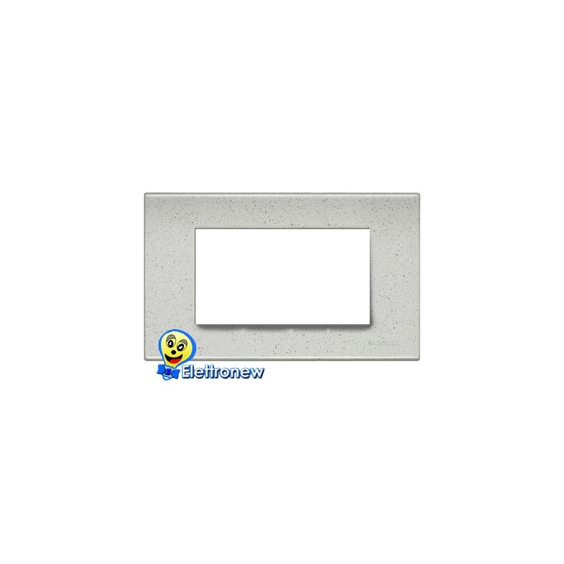BTICINO LIGHT PLACCA 4 MODULI N4804IB