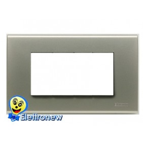 BTICINO LIGHT PLACCA 4 MODULI N4804TA