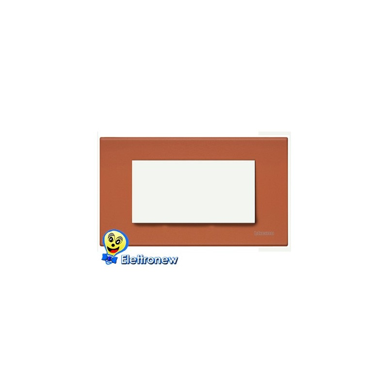 BTICINO LIGHT PLACCA 4 MODULI N4804RE