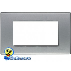 BTICINO LIGHT PLACCA 4 MODULI N4804AA