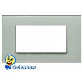 BTICINO LIGHT PLACCA 4 MODULI N4804GN