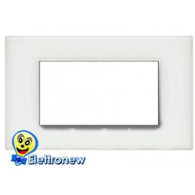 BTICINO LIGHT PLACCA 4 MODULI N4804OB