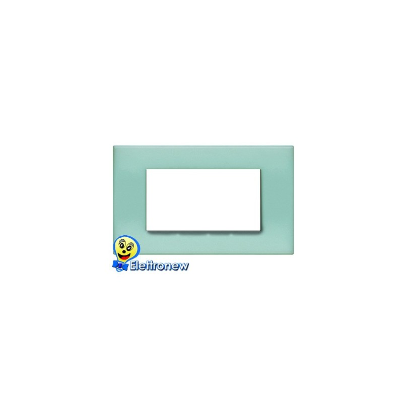 BTICINO LIGHT PLACCA 4 MODULI N4804VP