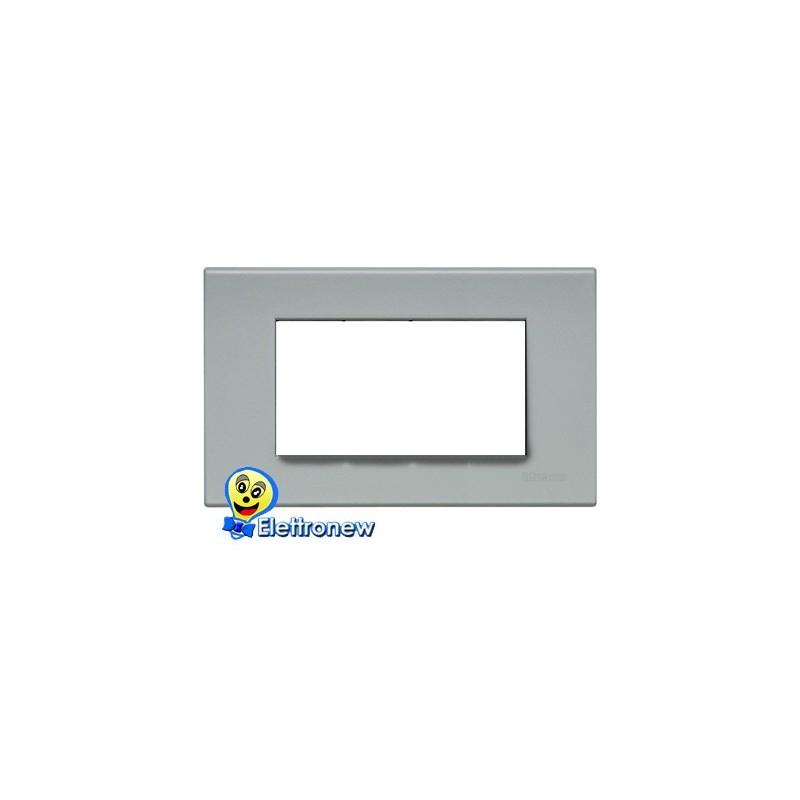 BTICINO LIGHT PLACCA 4 MODULI N4804GE