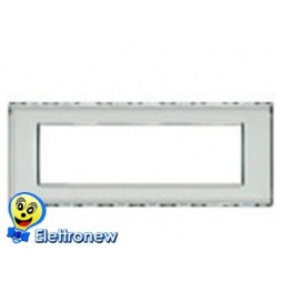 BTICINO LIGHT PLACCA 7 MODULI N4807KR