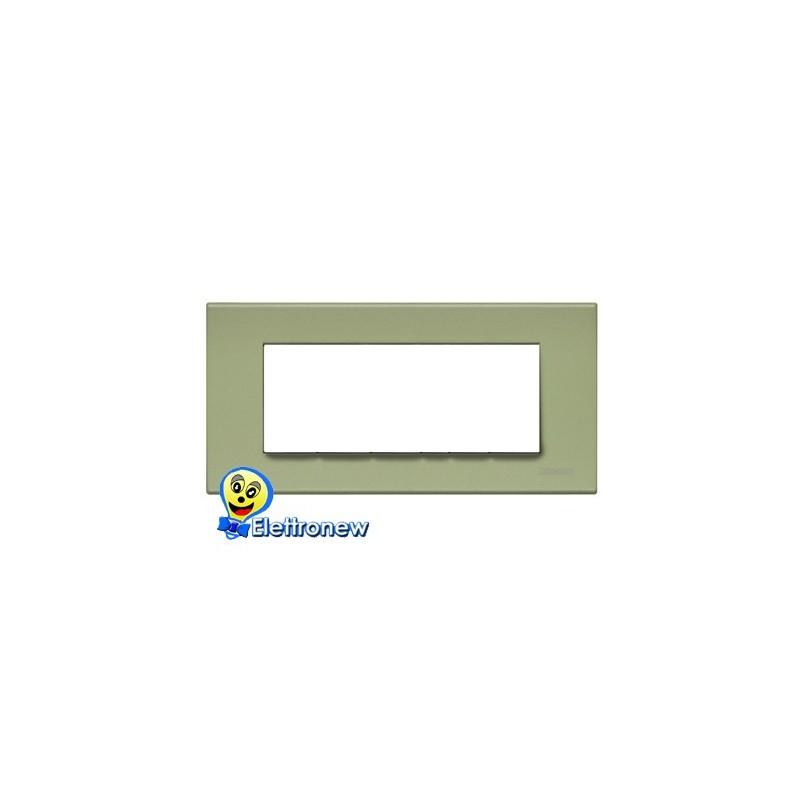 BTICINO LIGHT PLACCA 7 MODULI N4807VE