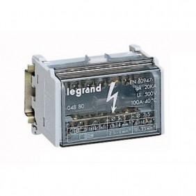 Terminal de tornillo bipolar Legrand Viking 2P 40A 100A 7 Orificio de 4 módulos 004880